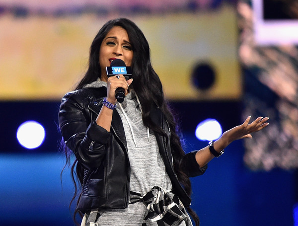 Lilly Singh speaks onstage at WE Day California 2016 Photo from: Mike Windle/Getty Images North America