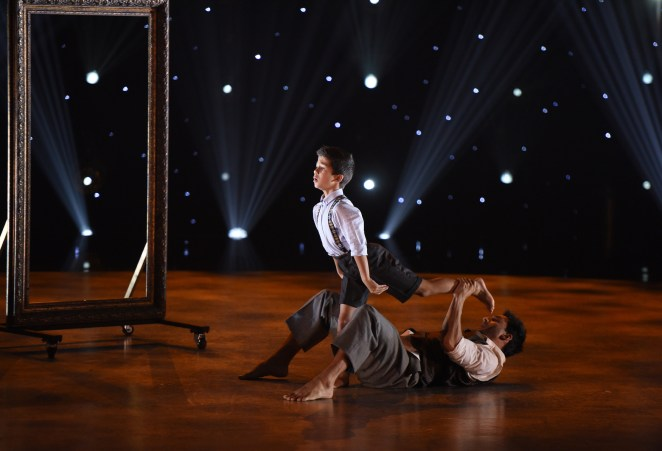 "SO YOU THINK YOU CAN DANCE: L-R: Top 9 contestant J.T. Church and all-star Robert Roldan perform a Contemporary routine to ""The Mirror"" choreographed by Travis Wall on SO YOU THINK YOU CAN DANCE airing Monday, July 25 (8:00-10:00 PM ET live/PT tape-delayed) on FOX. ©2016 FOX Broadcasting Co. Cr: Michael Becker"