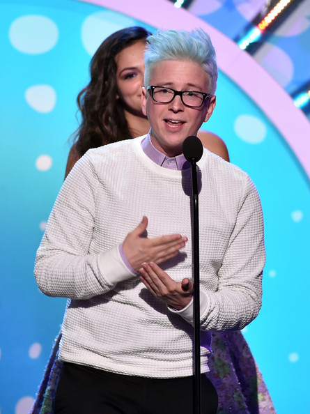 Tyler Oakley at the 2014 Teen Choice Awards Photo from: Kevin Winter/Getty Images North America)