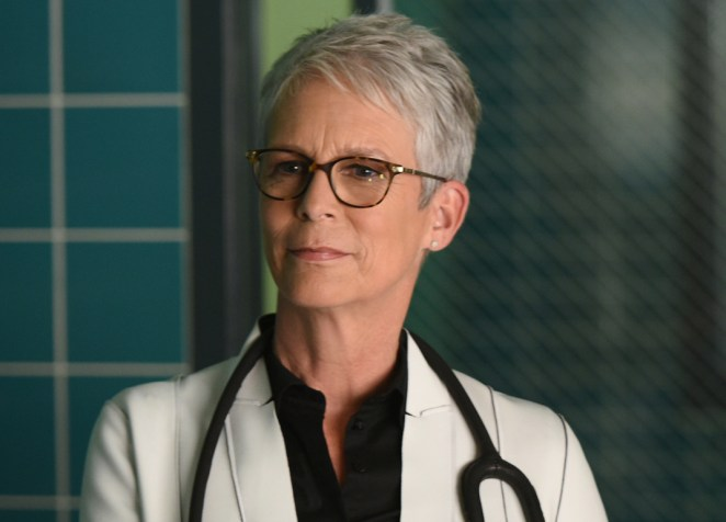 "Jamie Lee Curtis in the all-new ""Scream Again"" season premiere episode of SCREAM QUEENS airing Tuesday, Sept. 20 (9:01-10:00 PM ET/PT) on FOX. Cr: Michael Becker / FOX."