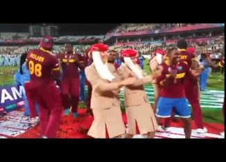 Celebration moment of West Indies, World T20 final 2016