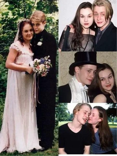 Rachel Miner and Macaulay Culkin Wedding Photos and moment when they were dating as boyfriend girlfriend. Four photos.