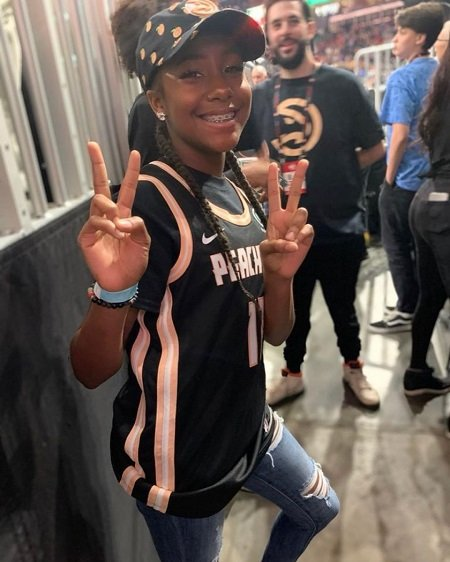 Jalaiah Harmon on the way to her NBA All Star game performance.