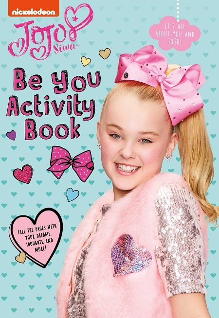 JoJo Siwa on the cover of one of her books.