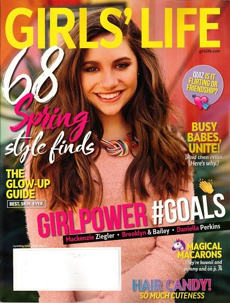 Mackenzie Ziegler on the cover of 'Girls' Life Magazine'.