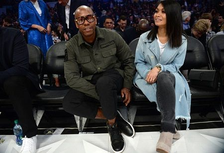 One of the rare public appearances of the husband and wife duo Elaine Chappelle and Dave Chappelle at the NBA All-Star Game 2018 at Staples Center.