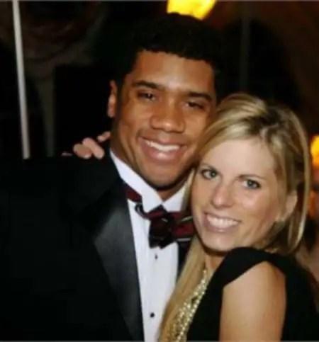 Ashton Meem and her ex-husband Russell Wilson.