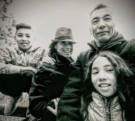 Hiro Kanagawa and Tasha Faye Evans share two children, a son & a daughter.