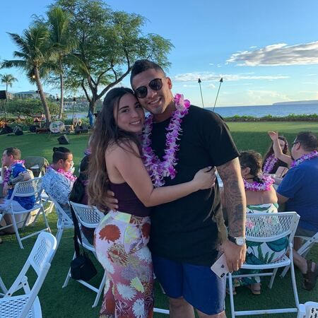 Gleyber Torres and wife Elizabeth Torres celebrating Valentine's Day 2019.