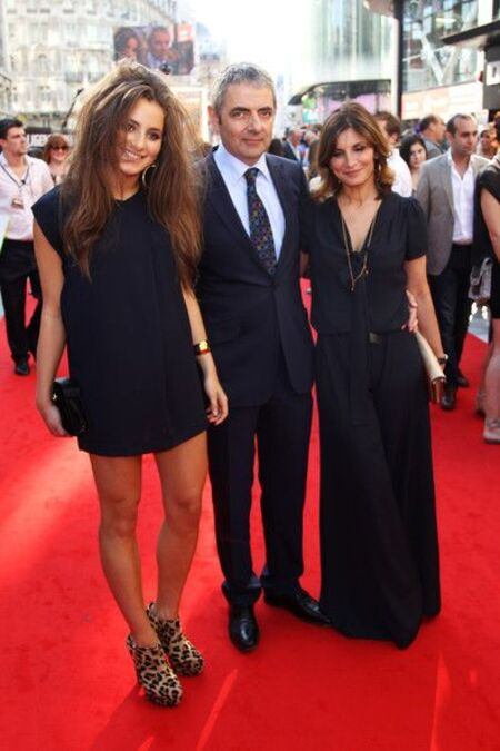 Lily Sastry with her parents Rowan Atkinson (father) and Sunetra Sastry (mother).