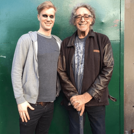 Joonas Suotamo and Peter Mayhew, the latter and former actor to take on the role of Chewbacca.