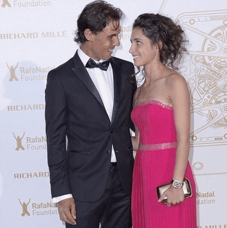Rafael Nadal and his wife Maria Francisca Perello.