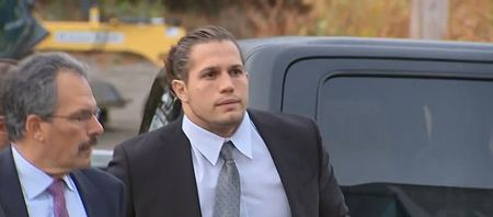 Michael Chickello arrived at the court for his hearing.