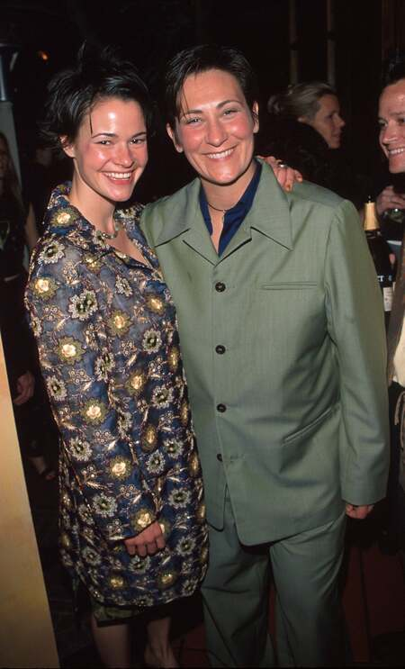 Leisha Hailey with her former girlfriend k.d. lang.