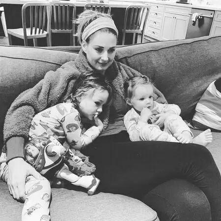 Alex Breckenridge with her children, son Jack, and daughter Billie.