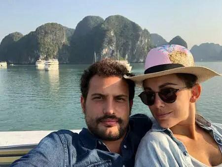 Roberto Urbina with his girlfriend Maria Elisa Camargo.