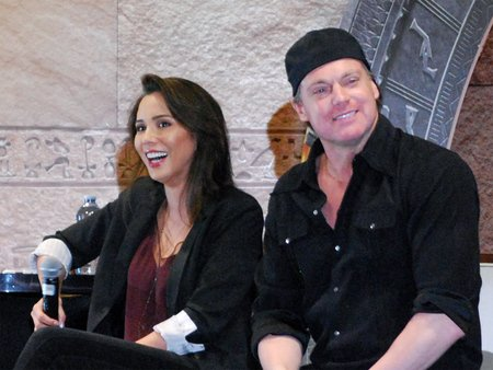 Lexa Doig married her husband Michael Shanks in Vancouver at Brock House.