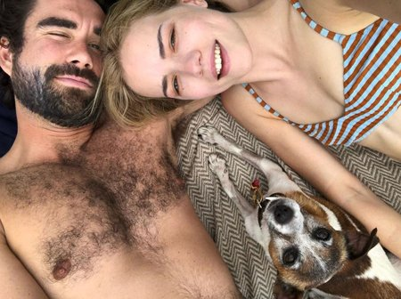Willa Fitzgerald and her boyfriend Gabe Kennedy live together along with their dog Birdie.