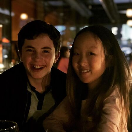 Sophie Jaewon Kim with her 'The Healing Powers of Dude' co-star Jace Chapman.