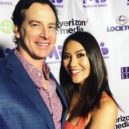 Rob Huebel attending Signature Chefs Auction with his wife Holly Hannula.