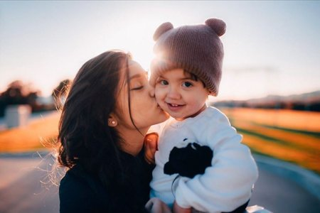 Yvette Monreal posts pictures of a little baby boy from time to time.
