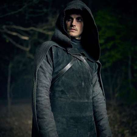 Daniel Sharman plays Weeping Monk in the Netflix series Cursed.