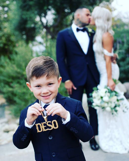 Derek Deso and Sophia Turner's son Quincy was a charmer during the marriage ceremony.