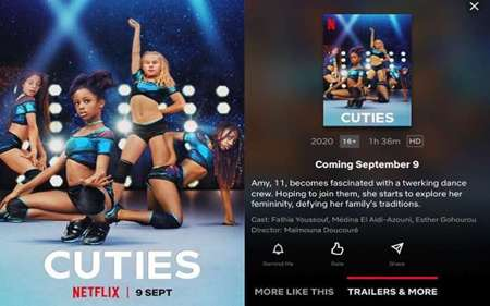 Cuties promotional material caused a lot controversy on the internet.