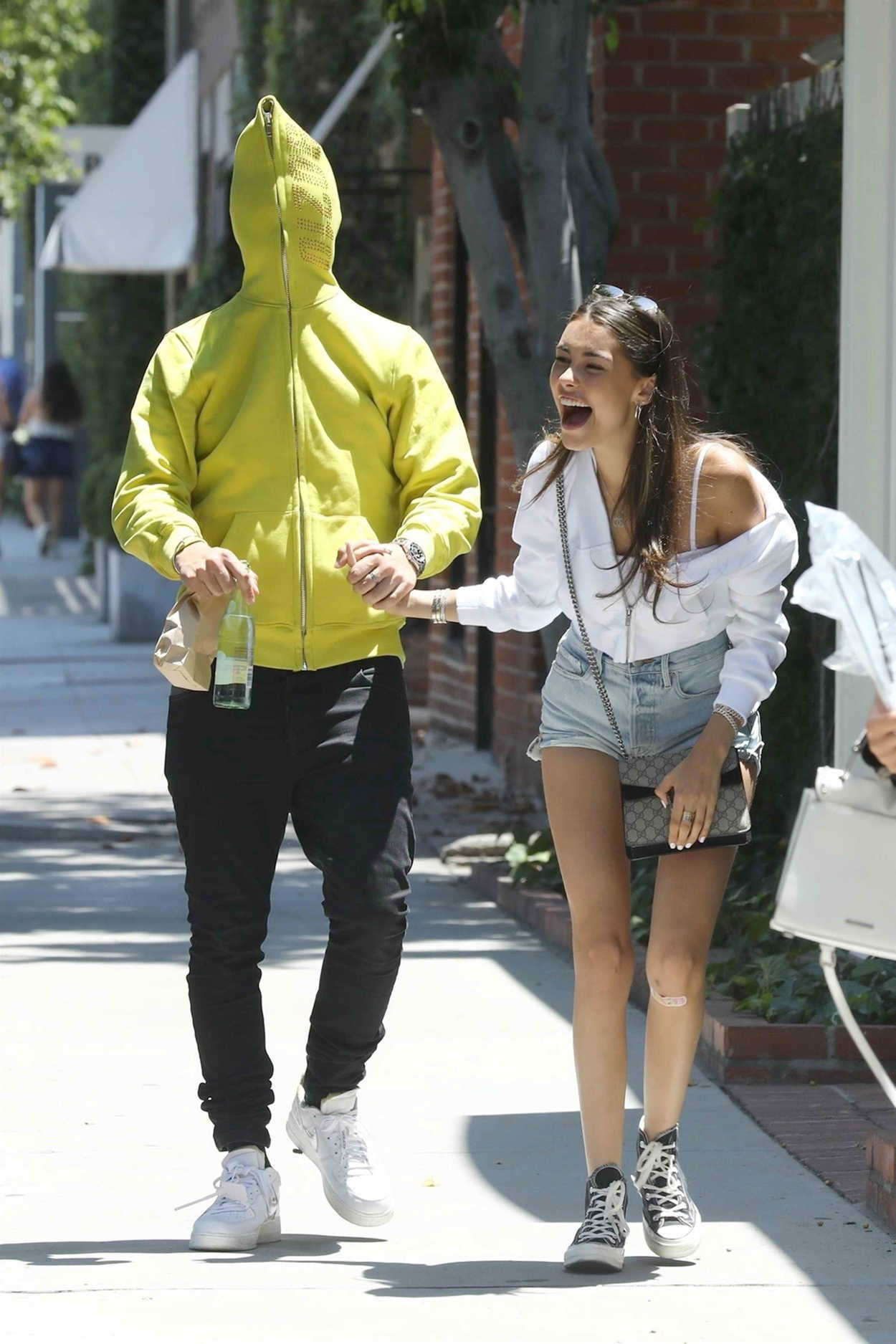 Madison Beer with Her Boyfriend Zack Bia Leaves Alfred