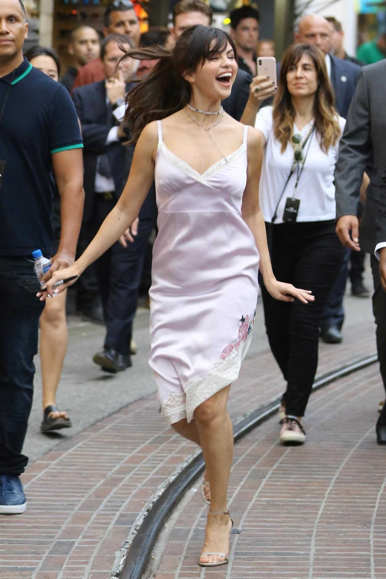 Selena Gomez in a Pink Sundress Was Seen Out in Los Angeles 09052018  celebslacom