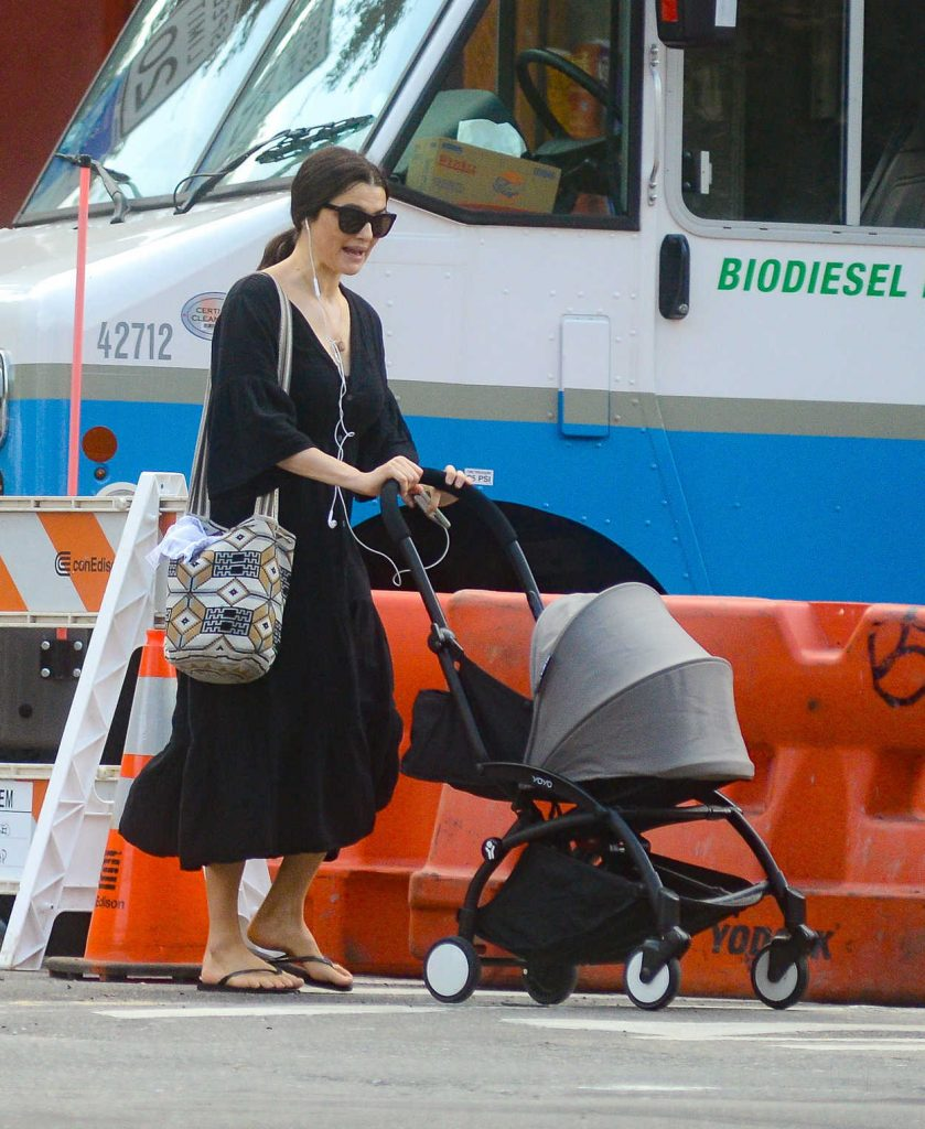 Rachel Weisz with a Baby Carriage Was Seen Out in New York