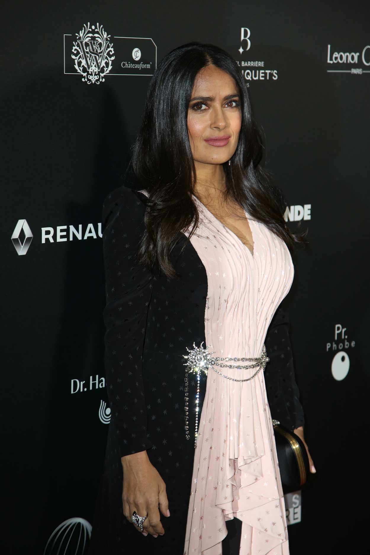 Salma Hayek Attends Globe of Crystal Photocall in Paris 02042019  celebslacom