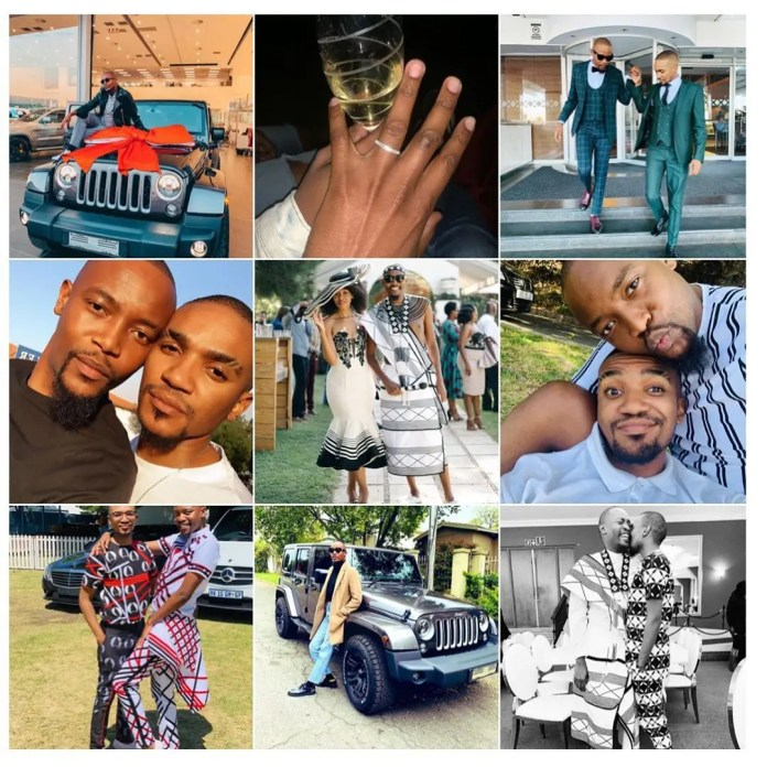 Moshe Ndiki and Phelo Bala's 2019 most shared pictures on Instagram