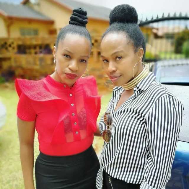 Sindi Dlathu and twin sister