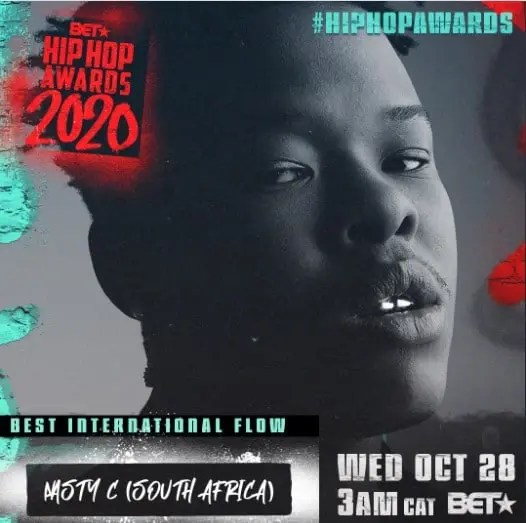 Nasty C Nominated For A BET Award