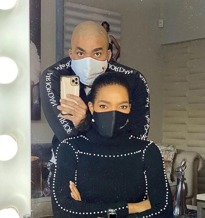 Connie Ferguson gets humiliated by her hubby Shona for eating junk food – Video