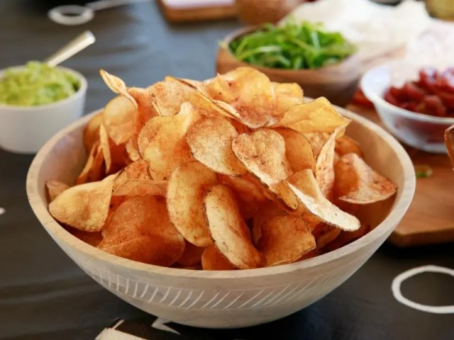 Home made Lay's Salt amd Vinegar chips step by step