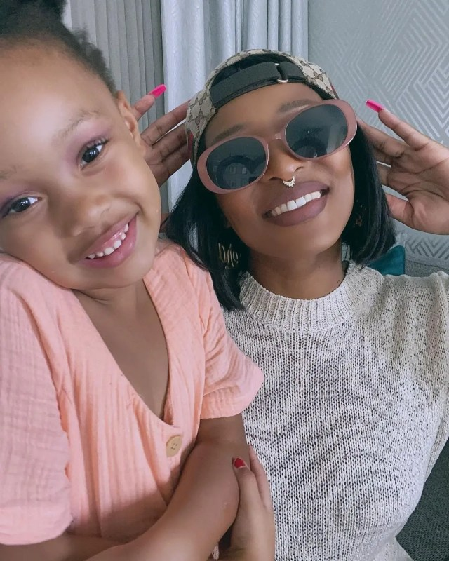 DJ Zinhle and daughter1