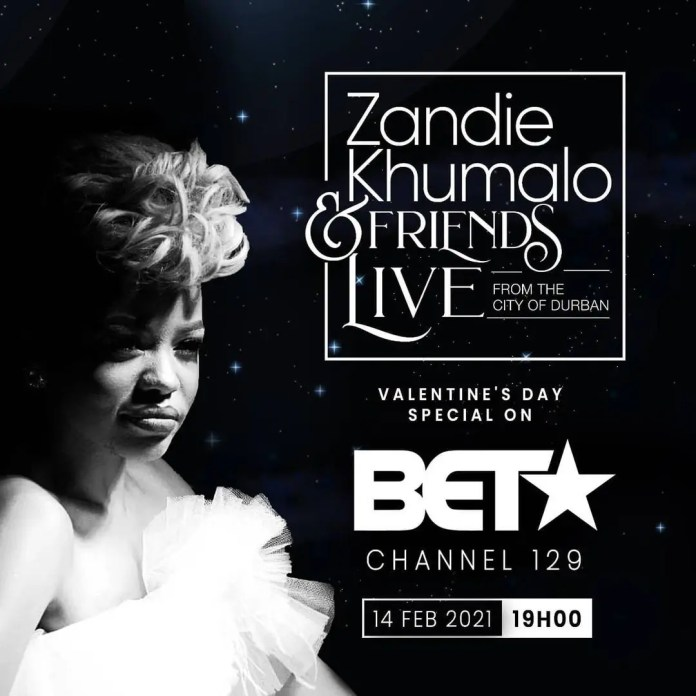 BET Africa to broadcast Zandie Khumalo and Friends Valentine's Day special