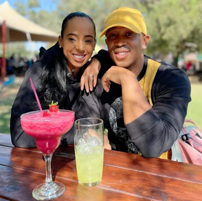 Pictures of singer Singer Theo Kgosinkwe and wife leave Mzansi speechless