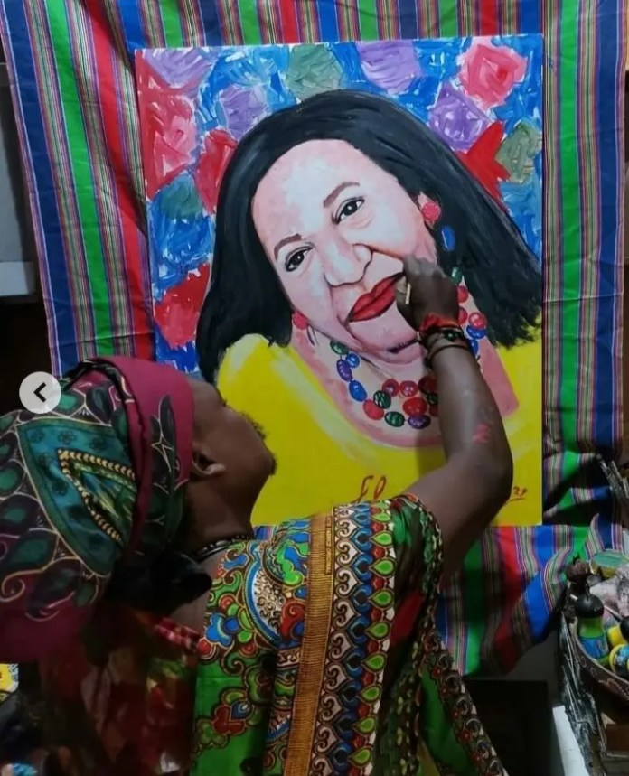 Rasta the Artist in trouble after his recent portrait of actress Shaleen Surtie-Richards