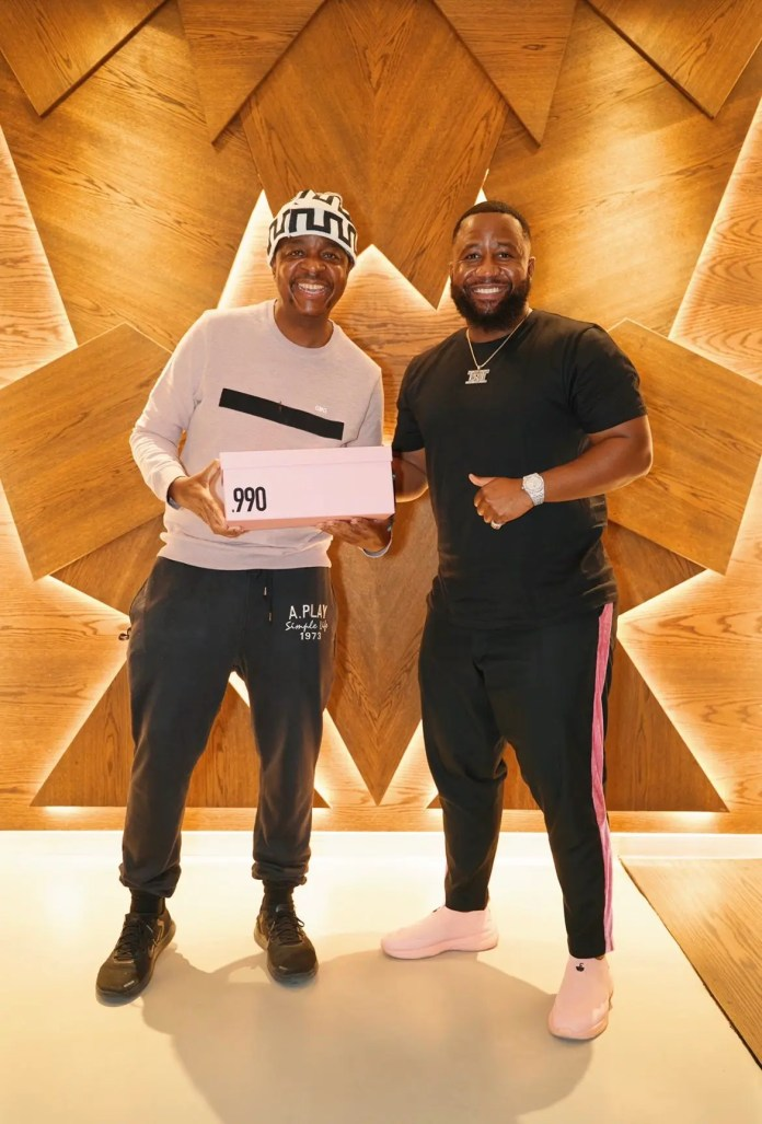 Oskido shows support to Cassper's sneakers business