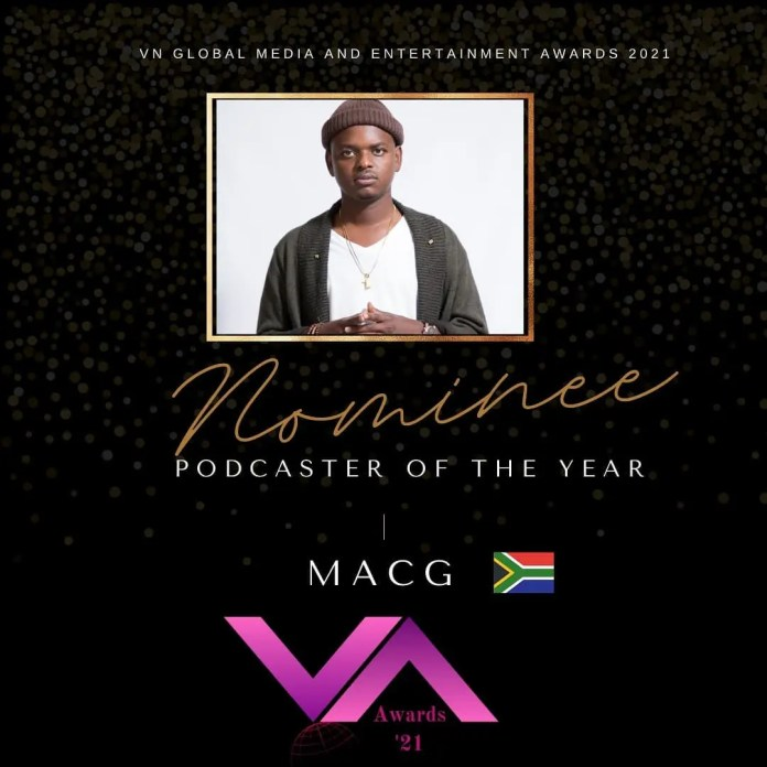 MacG's podcast nominated for a global award