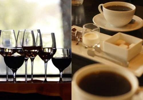 ワイン・コーヒーにはポリフェノールが多く含まれれいる。