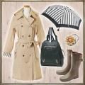 雨の日のおしゃれ★ファッションコーディネート