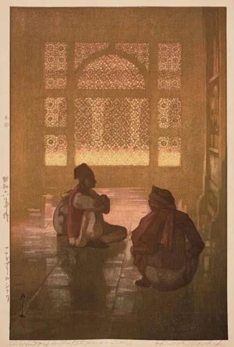 《印度と東南アジア フワテプールシクリ》昭和6(1931)年 木版、紙 37.9×24.9cm