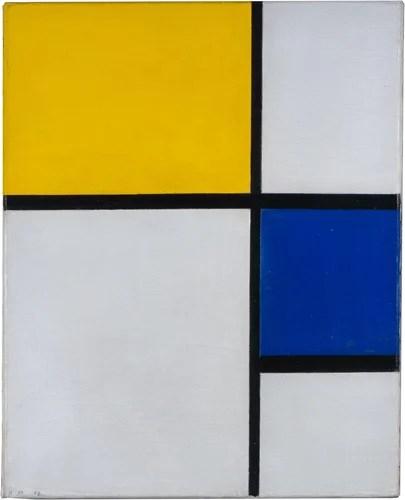《コンポジション No.1 》 ピート・モンドリアン 1929年 油彩、カンヴァス 京都国立近代美術館