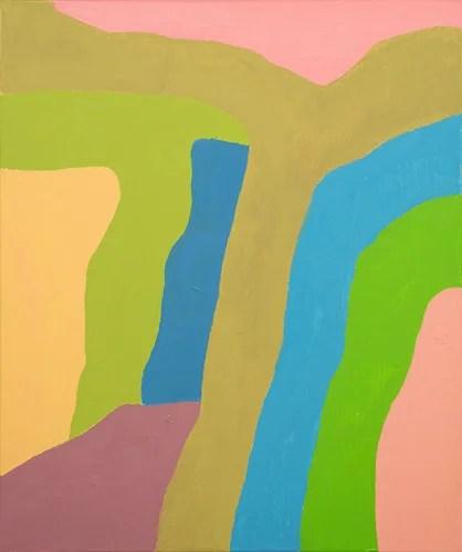 エテル・アドナン《無題》2018年  油彩、キャンバス 55×46 cm