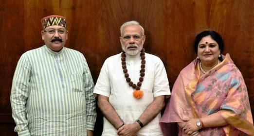 Suyash Rawat's parents with Indian Prime Minister