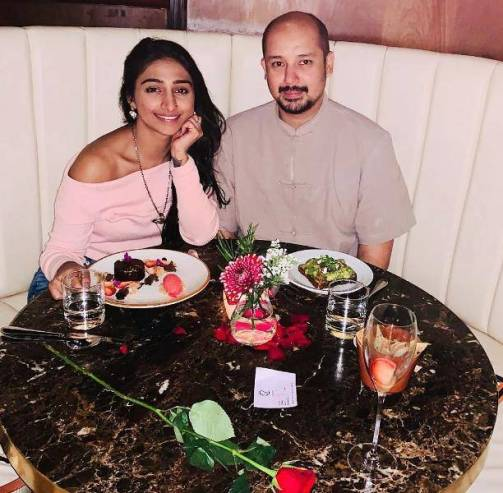 Suyash Rawat with his wife